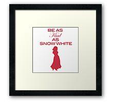 Snow White - Kind Framed Print