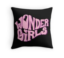wonder girls why so lonely logo Throw Pillow
