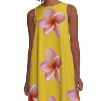 Pink Frangipani A-Line Dress