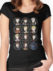 Doctors 1-11 Women's Fitted Scoop T-Shirt