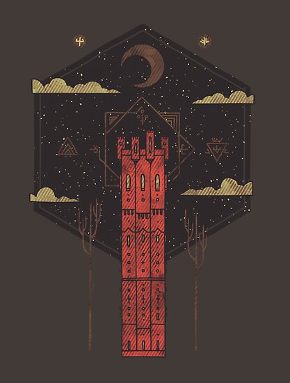 The Crimson Tower by Hector Mansilla