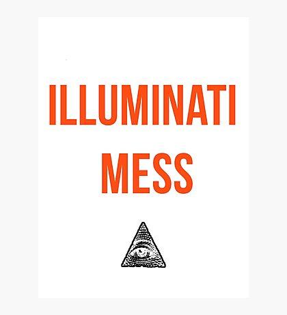 Illuminati Mess Photographic Print
