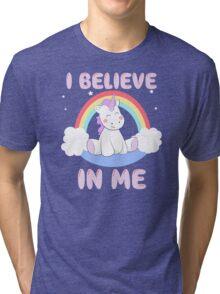 Cute Unicorn I Believe In Me T Shirt Tri-blend T-Shirt
