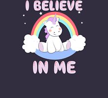 Cute Unicorn I Believe In Me T Shirt Women's Relaxed Fit T-Shirt