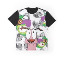 Courage the Cowardly Dog and the Ooga Booga Mask Graphic T-Shirt