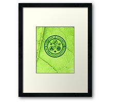Hero's Mark (Green) Framed Print