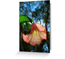 peach flower Greeting Card