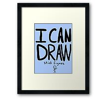 I Can Draw Stick Figures Framed Print