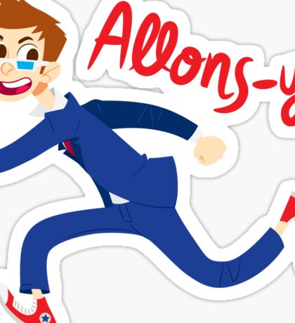 Allons-y! (full colour) Sticker