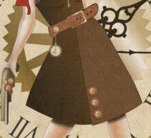 Lady Steampunk in art nouveau style Sticker