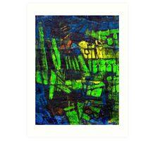 Blocks - Fields Art Print