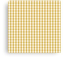 Designer Fall 2016 Color Trends-Spicy Mustard Yellow Gingham Check Canvas Print