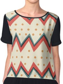 Waves and dots Chiffon Top