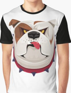 Bulldog English - I love Bulldog Graphic T-Shirt