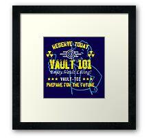 Vault 101  Framed Print