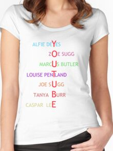 British Youtubers Women's Fitted Scoop T-Shirt