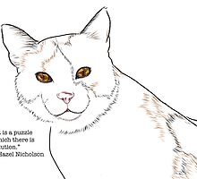 A Cat Is a Puzzle by Ruca
