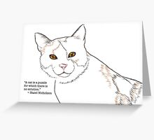 A Cat Is a Puzzle Greeting Card