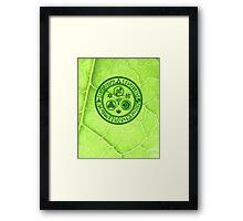 Hero's Mark (Dark Green) Framed Print