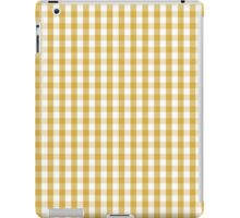 Designer Fall 2016 Color Trends-Spicy Mustard Yellow Gingham Check iPad Case/Skin