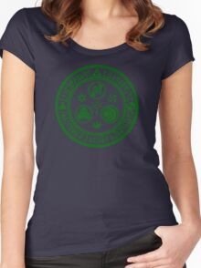 Hero's Mark (Dark Green) Women's Fitted Scoop T-Shirt