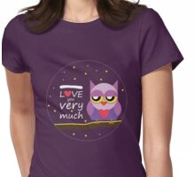 Love You very Much Womens Fitted T-Shirt