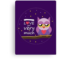 Love You very Much Canvas Print