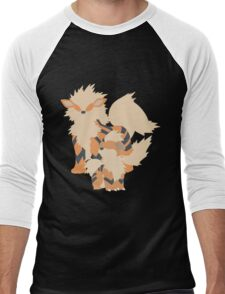 Growlithe Evolution Men's Baseball ¾ T-Shirt