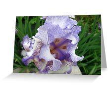 Inkblot Iris Greeting Card