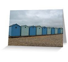 Blue Beach Huts........... Greeting Card