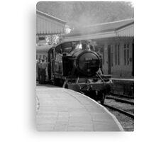 Llangollen 5199 Steam Train B&W Canvas Print