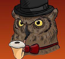 Gentleman Owl by WulfFather