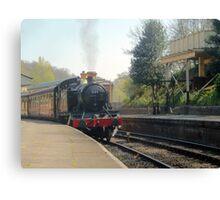 Llangollen 5199 Steam Train Leaving Canvas Print