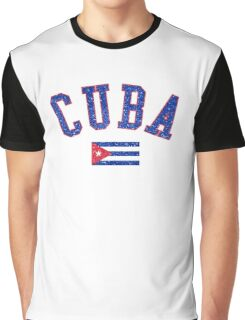 Cuba Flag Vintage Graphic T-Shirt