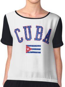 Cuba Flag Vintage Chiffon Top