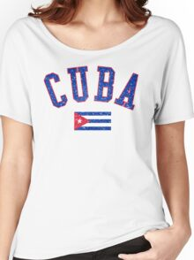Cuba Flag Vintage Women's Relaxed Fit T-Shirt