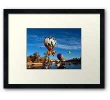 Balloons Over The Channel Framed Print