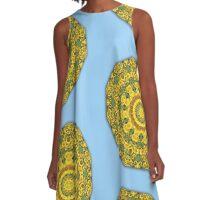 Sunflower, Flower Mandala A-Line Dress