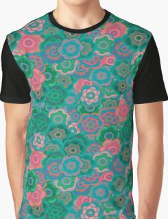 Floral Riot - Green Graphic T-Shirt