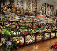 Grocery - Edward Neuman - The produce section 1905 by Mike  Savad
