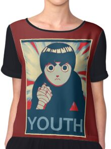 Rock Lee Youth poster Chiffon Top