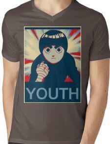 Rock Lee Youth poster Mens V-Neck T-Shirt