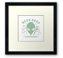 Neck Deep Citizens of Earth Framed Print