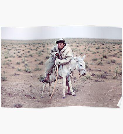 Nomad in the desert Poster