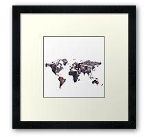 World Map - City Framed Print