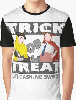 Bottom Halloween 'Trick Or Treat' Design Graphic T-Shirt
