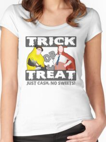 Bottom Halloween 'Trick Or Treat' Design Women's Fitted Scoop T-Shirt
