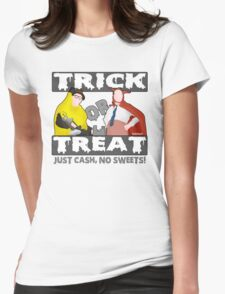 Bottom Halloween 'Trick Or Treat' Design Womens Fitted T-Shirt