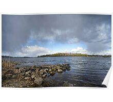 Spring Storm Over the River Poster