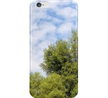 Cloudy Sky Over the trees iPhone Case/Skin